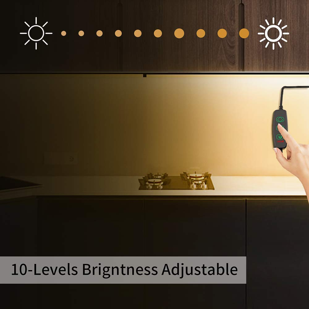 MYPLUS LED Under Cabinet Lighting, 4 pcs 12 inches Extremely Soft Kitchen Lights 12W, 840lm With 10 Levels Dimmable LED Under Counter Lights, for Kitchen Cabinet,Counter,Workbench etc - 3000K by MYPLUS (Image #3)