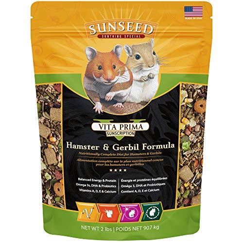 Sunseed 36043 Vita Prima Sunscription Hamster & Gerbil Food - High-Variety Formula, 2 LBS (Packaging May Vary)
