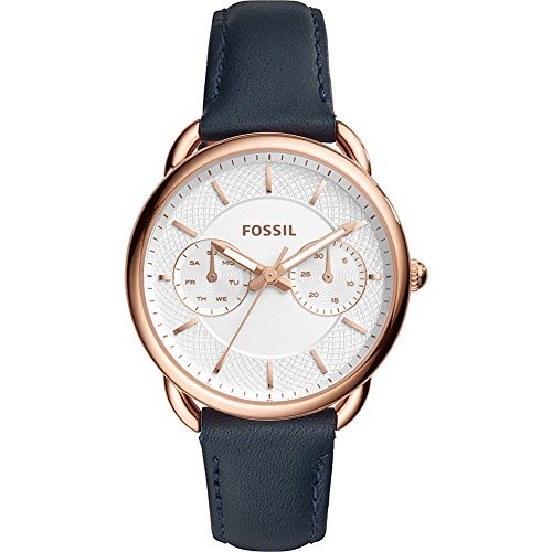 Fossil-Tailor-Multifunction-Navy-Leather-Watch