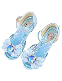 ANKIDS Kids Frozen Elsa Sandals Girls Butterfly Crystal Soft Bottom Shoes