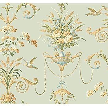 York Wallcoverings Nm2903 Normandy Manor Floral Neoclassic