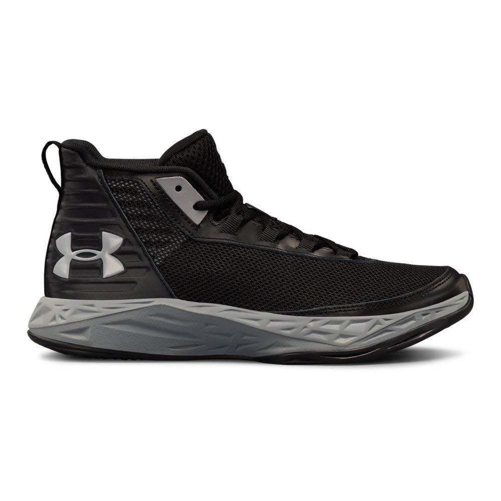 Under Armour Boys' Grade School Jet 2018 Basketball Shoe, (002)/Black, 5