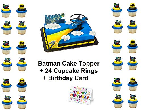 Batman Chase Cake Topper Set Cupcake 24 Pieces Birthday Supplies Favors Goodies