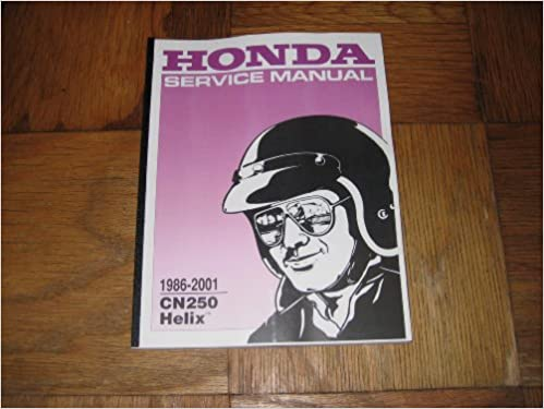 Honda helix 1986-2007 cn250 scooter service manual cyclepedia.