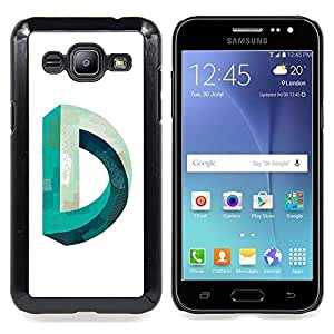 - D Mobius Impossible Teal White - - Snap-On Rugged Hard Cover Case Funny HouseFOR Samsung Galaxy J2