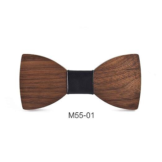 Corbatas de lazo para hombre 3D Pajarita de madera Boda de madera ...
