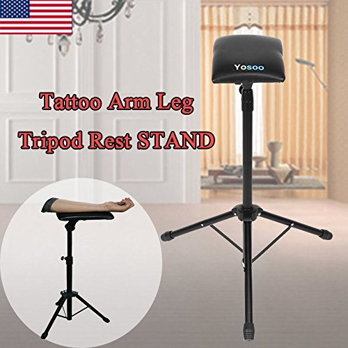 Armrest Tripod Stand, Adjustable Tattoo Tripod Stand Armrest Leg Rest Chair Sponge Arm Bar Rest Studio Chair Leg Rest (Chair Bar Measurements)