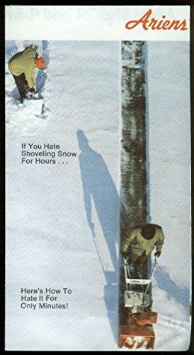 (Ariens Sno-Thro snowblower attachments sales folder 1974)