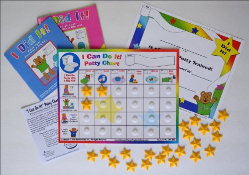 """Kenson Kids """"I Can Do It!"""" Potty Chart Updated Toilet Training System! Includes Colorful Magnetic Chart, 30 Positive-Reinforcement Stars, Potty Training Book, Achievement Certificate, and Training"""