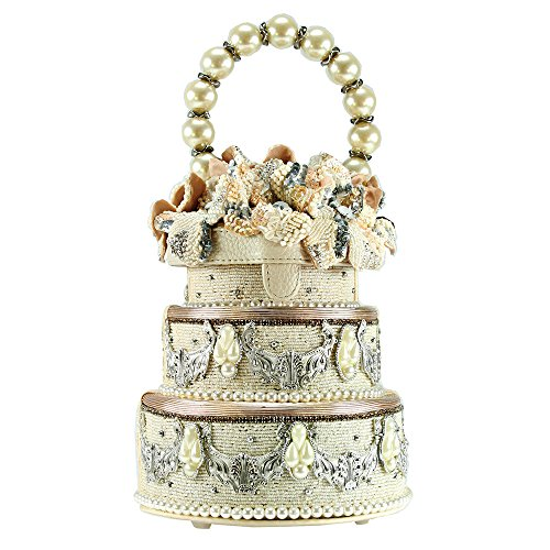 MARY FRANCES I Do Beaded Jeweled Pearl Elements Wedding Cake Bridal 3D Flowers by Mary Frances