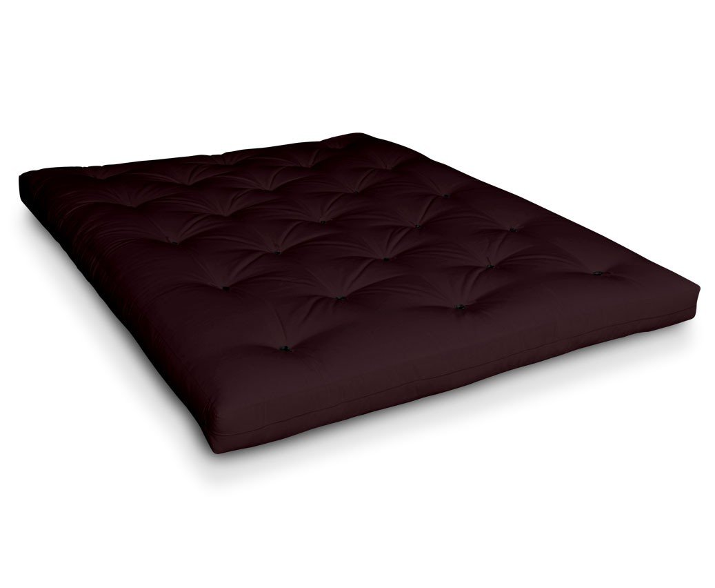 Futon Iwami Kokos Kokosfuton Futonmatratze mit 6x Baumwolle und Kokoskern von Futononline, Größe:200 x 200 cm, Color Futon SE Amazon:Bordeaux Dark/schwarz