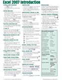 Microsoft Excel 2007 Introduction Quick Reference Guide (Cheat Sheet of Instructions, Tips & Shortcuts - Laminated Card)