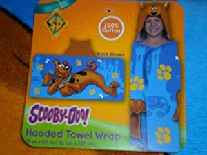 """Scooby-Doo Hooded Towel Wrap - 24"""" x 50"""" by Franco"""