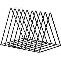 Triangle File Folder Racks and Magazine Holder,10 Lattice Metal Newspaper Holder Magazine File Storage for Office Home…
