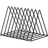 Triangle File Folder Racks and Magazine Holder,10 Lattice Metal Newspaper Holder Magazine File Storage for Office Home Decoration,Black By Cq acrylic