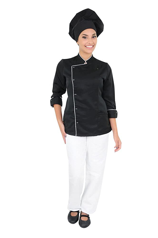 DAM Uniforms Women's 3/4 Sleeves with Frieze Chef Coat