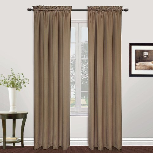 - United Curtain Metro Woven Window Curtain Panel, 54 by 72-Inch, Taupe