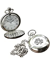 Irish Celtic Shamrock Pocket Watch by Mullingar Pewter