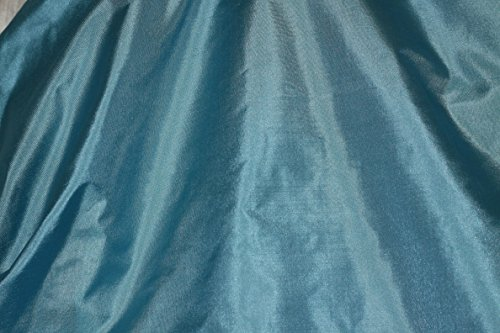 (Sea Blue Tissue Taffeta Silk, 100% Silk Fabric, by The Yard, 44