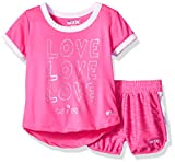 STX Big Girls' T-Shirt and Short Set (More Styles Available), Neon Hot Pink, 12