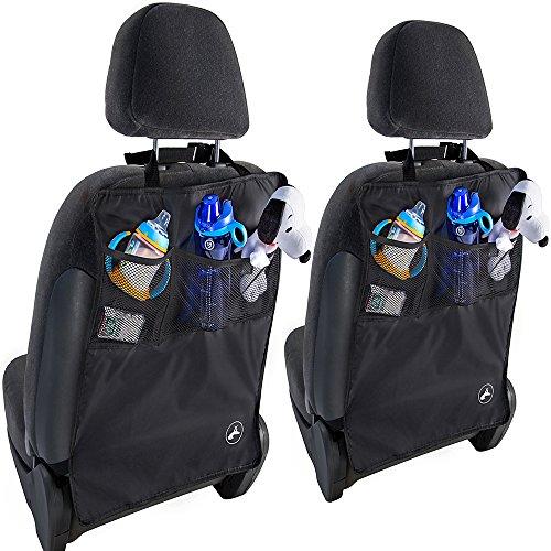 OxGord¨ Kick Mats Back Seat Protector w/Storage Organizer Pocket- 2 Pack