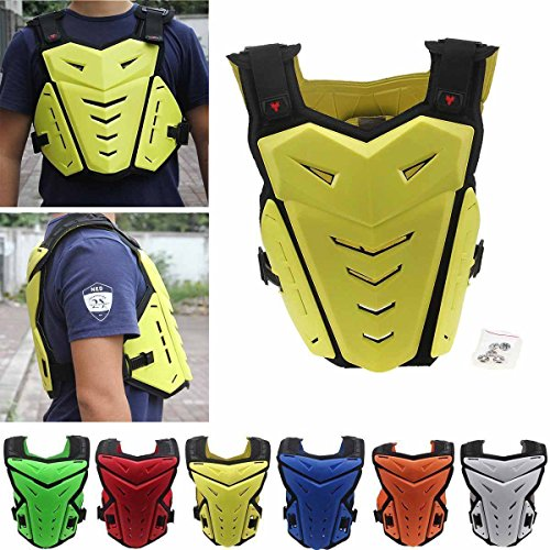 Chest Back Protector,POSSBAY M Motorcycle Gear Armor Motocross Dirt Bike Armour for Riding Cycling Skating Skiing Scooter
