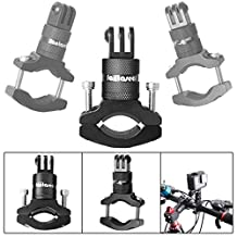 Fantaseal® Bike Mount Cycling Mount Aluminum Handlebar Adapter Bike Mount for GoPro Bicycle Mount Handlebar Pole Mount Bike Cycling Accessories Action Camera Bike Mount Motorcycling Mount Sports Camera Bike Mount for GoPro Hero 5 / 4 /3+/3/ Session Garmin Virb XE SJCAM +etc GoPro-Like Action Cameras 360 Degree Rotatable -BK