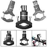 Fantaseal Action Camera Bike Mount for GoPro 360 Degree Rotary Bike Bicycle Handlebar Mount Clamp GoPro Aluminum Alloy Bike Rack Handlebar Mount Holder for GoPro Hero Garmin Virb XE SJCAM DBPOWER-BK