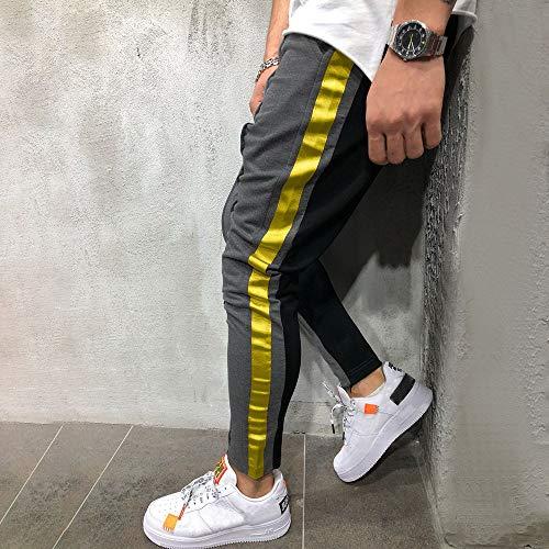 Gris Vaqueros Caqui Jogger Pant Color Gris Fashion Negro Sweatpant Pantalones Casual OHQ Solid SóLido Hombre Patchwork Azul A4qnzZ