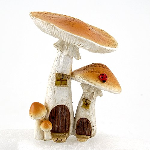 - Top Collection 4373 Miniature Fairy Garden & Terrarium Cute Mushroom Houses Decor with Pick, Small