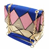 ZLCY Fashion Ladies Suede Leather Colorblocked Satchel Bag for Women Pink, Bags Central