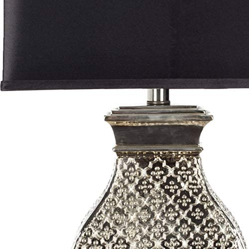 Safavieh Lighting Collection Malaga Silver 30-inch Table Lamp (Set of 2)