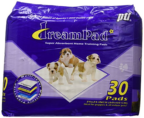 Pet Tek DPK82030 30-Pack Dream Pad Super Absorbent Home Dog Training Pad, Case of 6 by Pet Tek