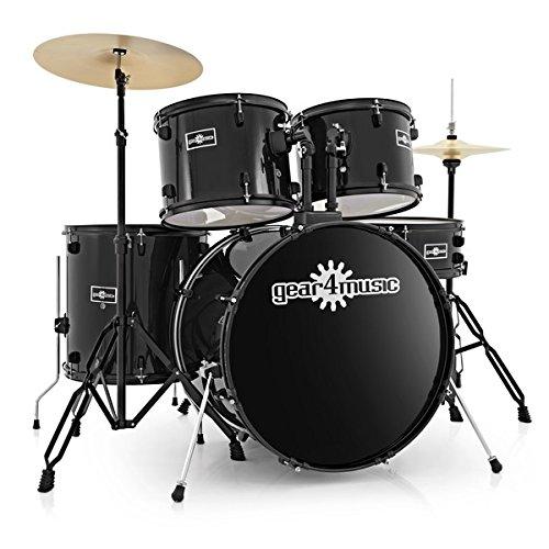 BDK-1 Full Size Starter Drum Kit by Gear4music, Black