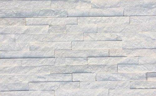 Natural Stone Stacked Wall Siding - Quartz - Ice