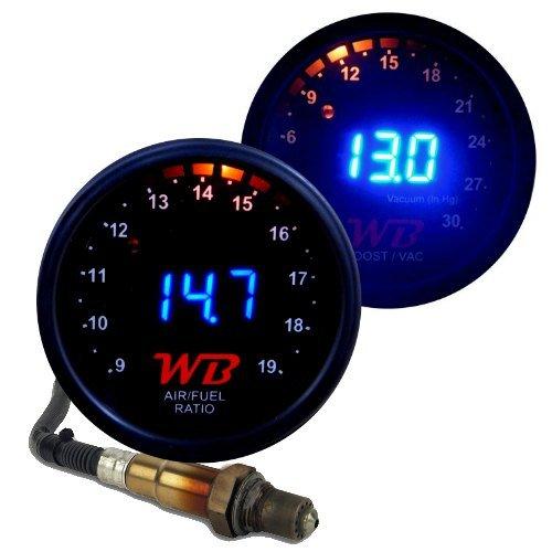 WB 2 GAUGE COMPLETE COMBO D2 Wideband Controller + B2 Boost Display Gauges (Blue)