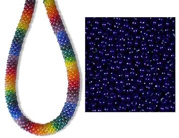 Sonderangebot Rocailles Glas Perlen 2,5 mm blau opak Rocailles 50 g