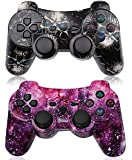 PS3 Controller Wireless 2 Pack High-Precison Dual Shock Gamepad DS3 Gaming Controller for Playstation 3 with Charging…