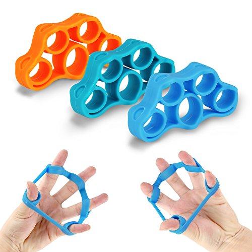 accmor Finger Stretcher Hand Resistance Bands, 3 Pcs Finger