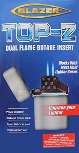 (Top-Z Dual Flame Blazer Torch Flame Lighter Replacement Insert)