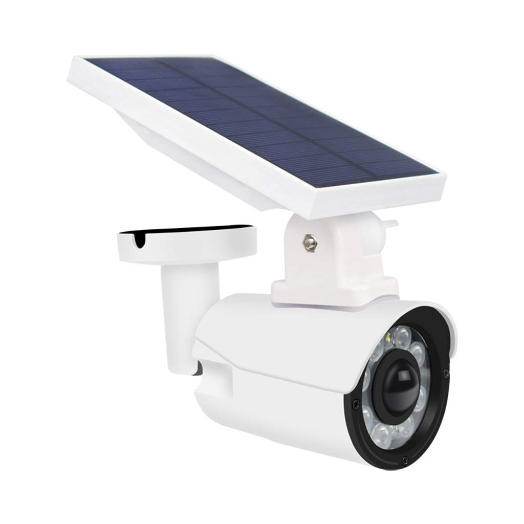 Fine Solar Light Outdoor, Wireless Light Security Spotlights Solar Powered Camera Simulation Monitor for Porch Garden Driveway Pathway Simulation Camera Waterproof (White) by Fine