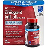 Member's Mark Extra Strength 100% Pure Omega-3 Krill Oil, 500mg 160 ct. (Pack of 4) A1