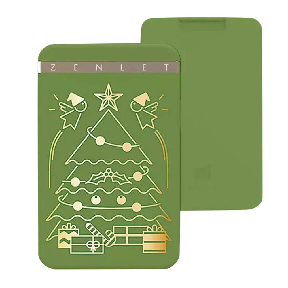UMFun Zenlet Credit Card Package Anti-side Wallet Action Wallet Push-pull Card Holder Wallet 10x6.3x1.2cm (Green for Xmas) by UMFun_Home Decoration