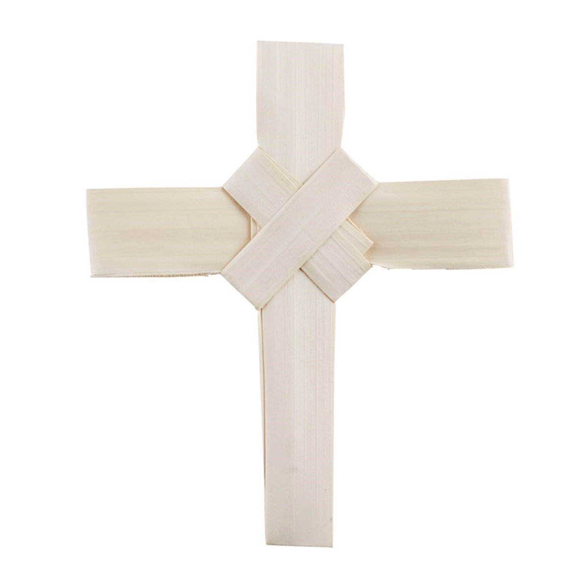 Palm Leaf Cross with Crossover Center Design, 4 Inch, Pack of 100