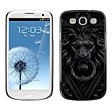 LASTONE PHONE CASE / Slim Protector Hard Shell Cover Case for Samsung Galaxy S3 I9300 / Cool Doorbell Lion Grey Black White Doorknob