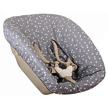 Bezug Stokke Tripp Trapp Neues Modell Newborn Set Schwarz Einfarbig Waffelpique /Öko-Tex 100 Baumwolle Recycelbar Schwei/ßabsorbierend und Weich f/ür Ihr Baby
