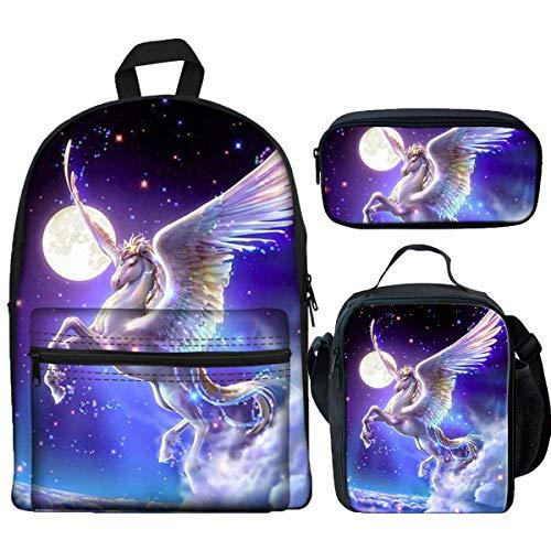 Girls Of Pegasus - LedBack Galaxy Pegasus Printed School Backpacks