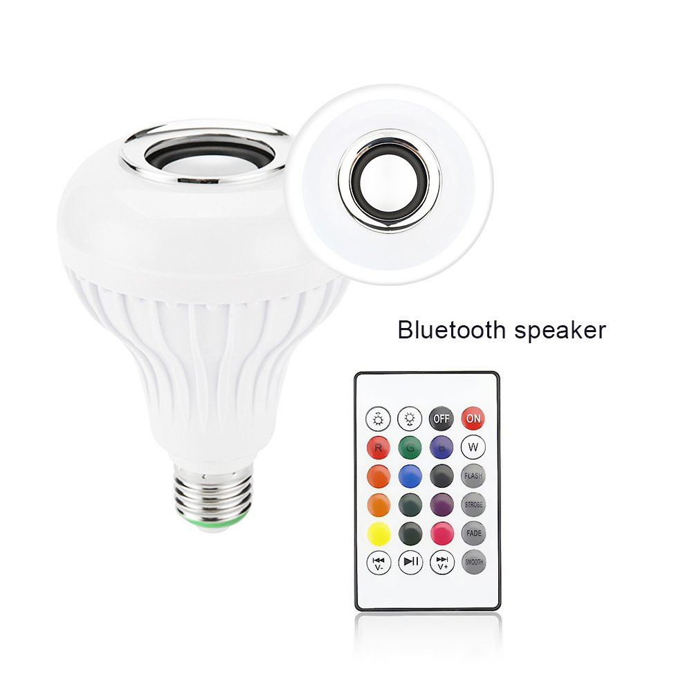 Barre Ampoule Musique avec T/él/écommande pour Maison Amteker Ampoule LED avec Haut-parleur Bluetooth E27 RGBW Changement de Couleur D/écoration de Partie Sc/ène