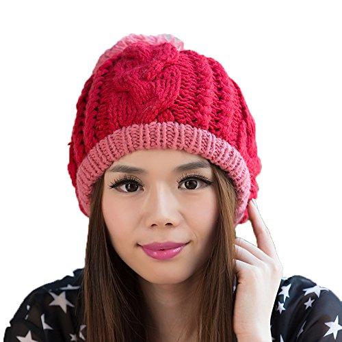 señoras Sombrero de 1 de 5 Bromista Sombrero de a Las Lana Coreana Punto Maozi del Moda Punto Sombrero Coreano Invierno FZwqwv48