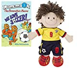 Toddler Little Boys Soccer Plush Toy Doll Player by Ganz with The Berenstain Bears We Love Soccer Book